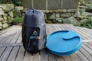 Biolite camping stove in bag