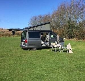 Campervan neighbours at Halse Farm