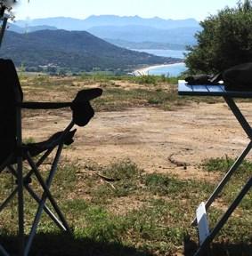 campsite in Corsica