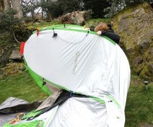Quechua pop-up tent