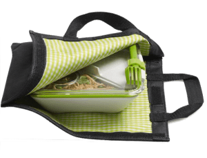 Black Blum lunch box bag picnic mat Campfire Magazine