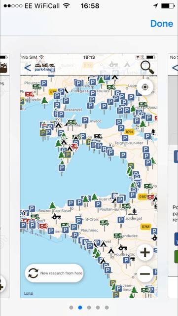 Park4night app