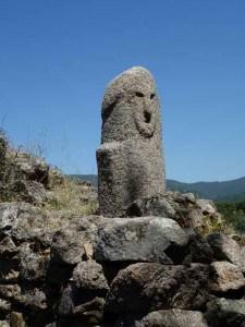 Stone carving at Filitosa