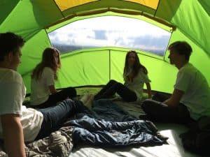 Snail tent inside
