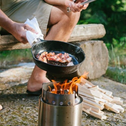 The Campfire Solo Stove four-person stove