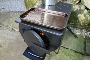 Frontier wood-burning stove for camping