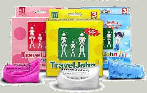 Travel john urinals