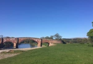 Kirkoswald Lazonby bridge over the Eden