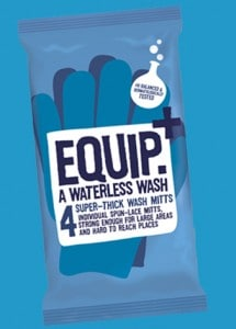 Equip waterless camping hiking wash wipes Campfire Magazine