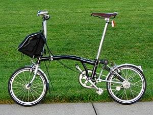 The Brompton folding bike