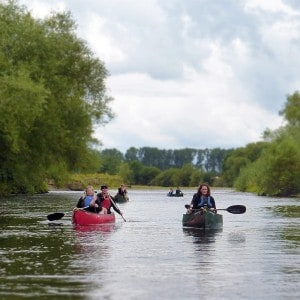 Canoeing and camping