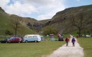 Gordale Scar campsite - basic but beautiful.