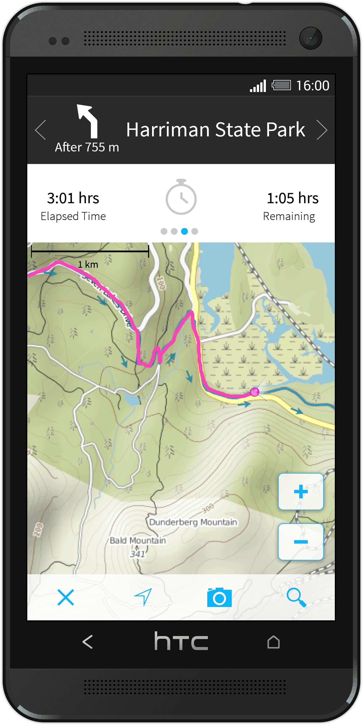 komoot Android map app